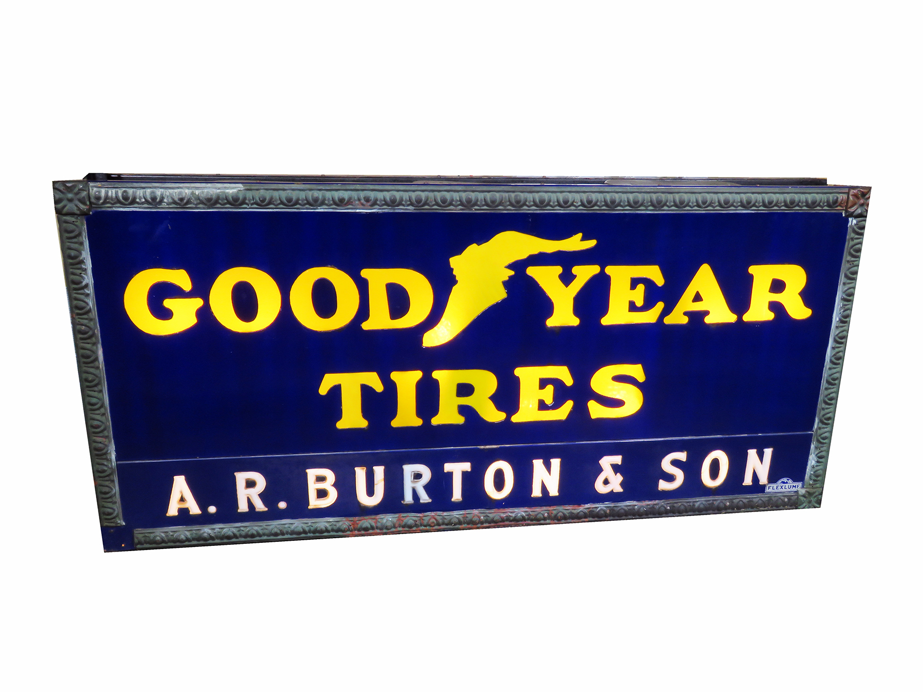 1920S GOODYEAR TIRES GARAGE SIGN