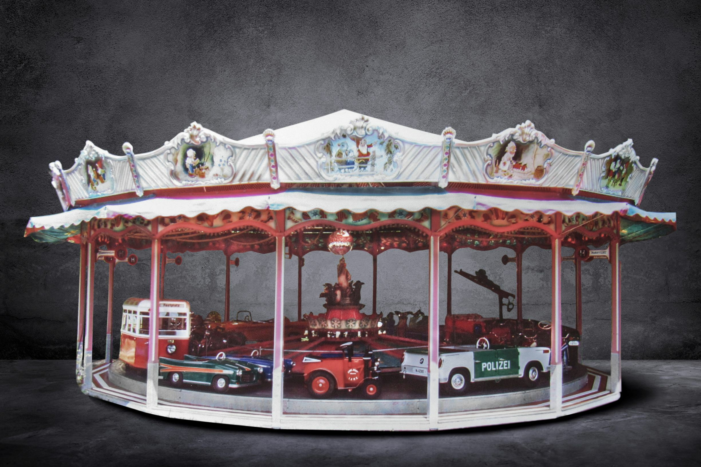 MAGNIFICENT FULL-SIZE TRANSPORTATION-THEMED CAROUSEL