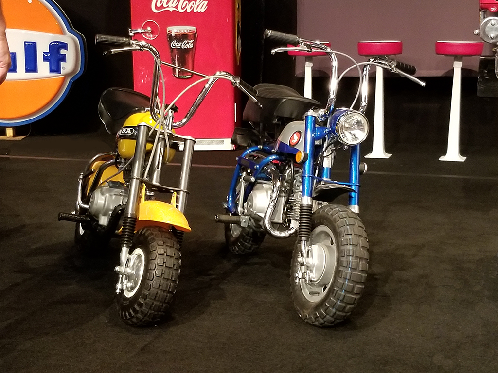 These two Honda minibikes sold for $11,500 each at the 2019 Northeast Auction.