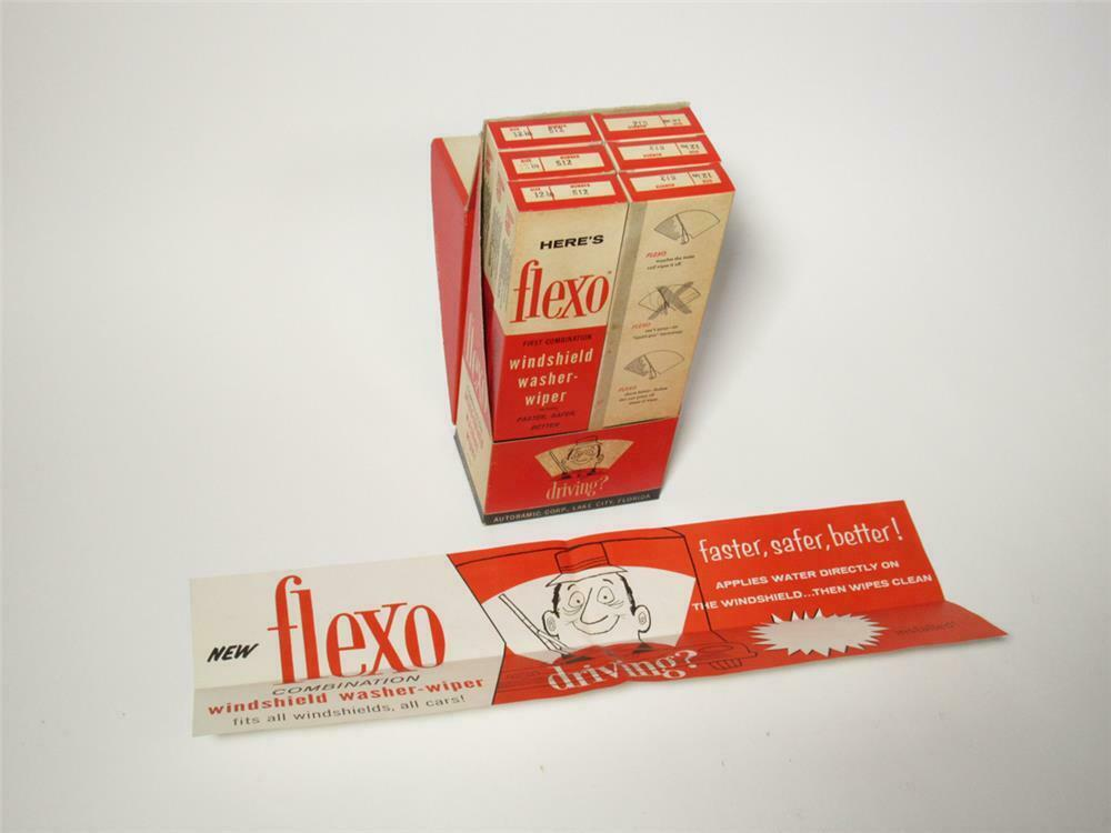 NOS 1960s Flexo Windshield Washer-Wiper service station countertop display still full and unused. - 218735