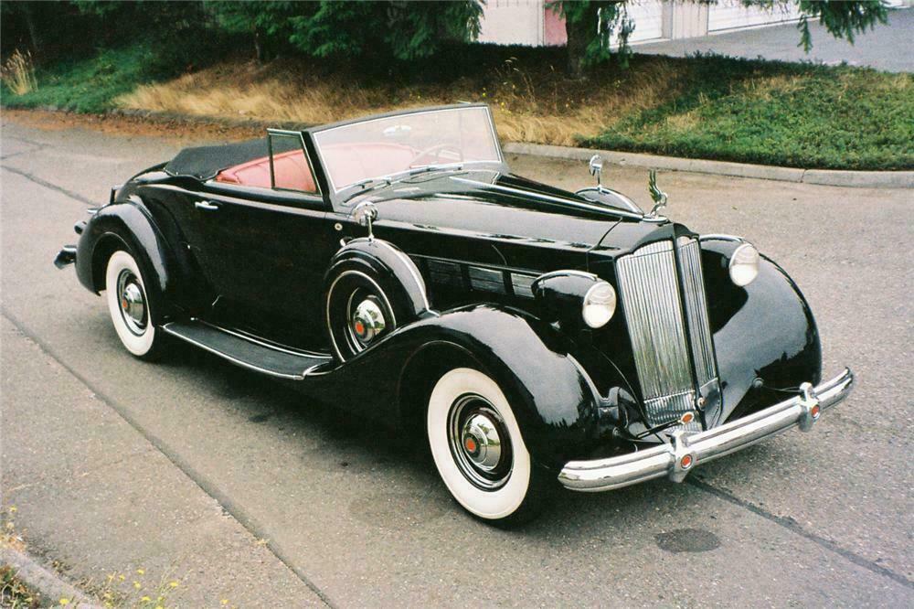 1937 PACKARD SUPER 8 CONVERTIBLE - Front 3/4 - 137843