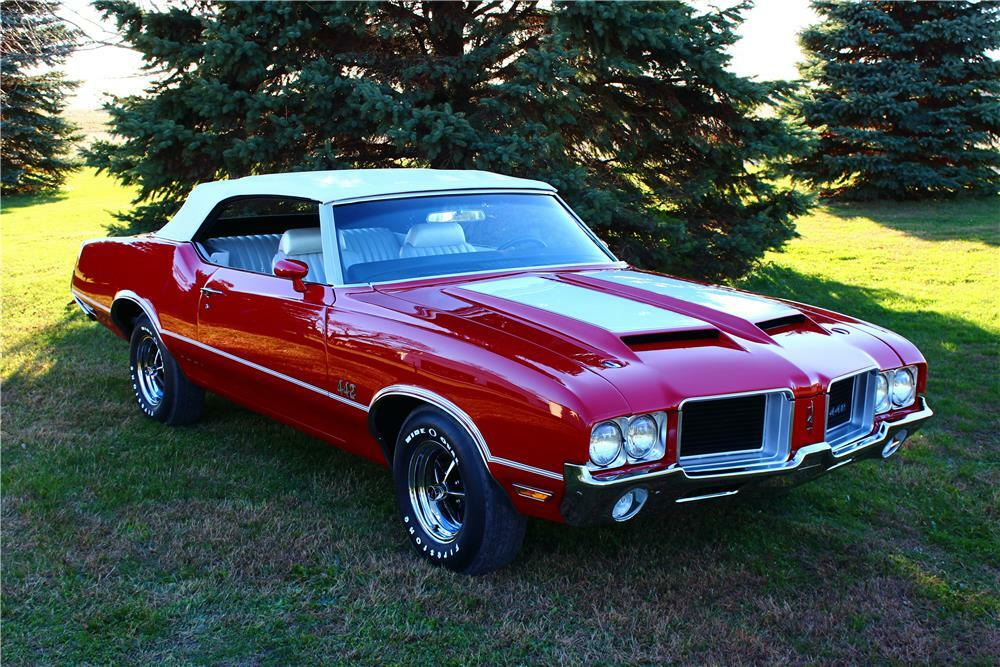 1971 OLDSMOBILE 442 CONVERTIBLE - Front 3/4 - 180614