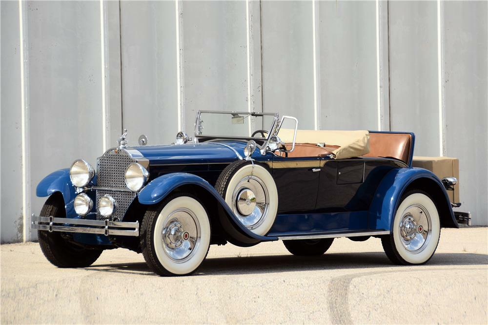 """1929 PACKARD 640 """"STRAIGHT 8"""" ROADSTER - Front 3/4 - 187065"""