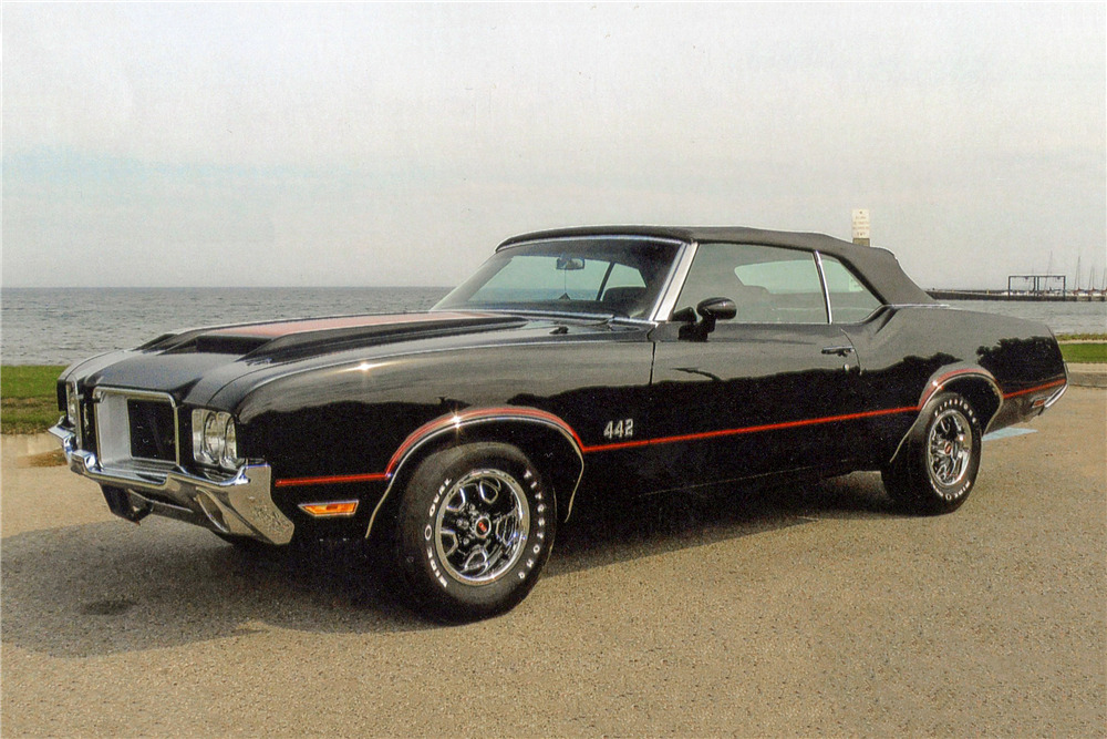 1971 OLDSMOBILE 442 CONVERTIBLE - Front 3/4 - 188658
