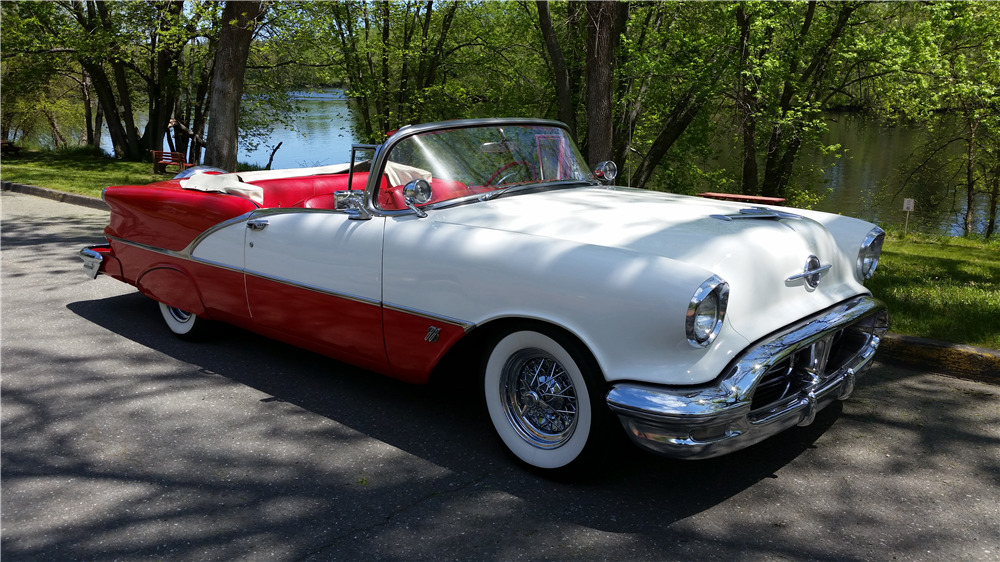 1956 OLDSMOBILE SUPER 88 CONVERTIBLE - Front 3/4 - 195769