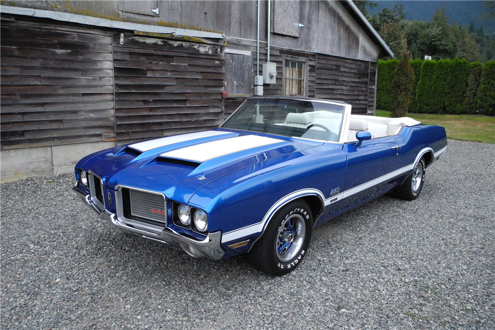 1972 OLDSMOBILE CUTLASS CONVERTIBLE 442 RE-CREATION - Front 3/4 - 198614