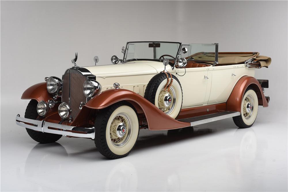 1933 PACKARD SUPER 8 TOURING 5/7-PASSENGER - Front 3/4 - 199297