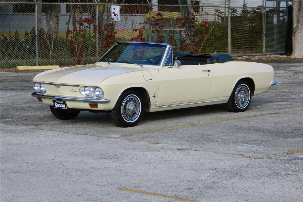 1966 CHEVROLET CORVAIR CONVERTIBLE - Front 3/4 - 206302