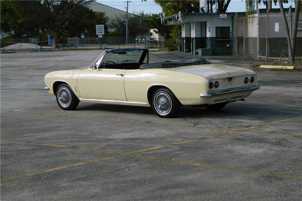 1966 CHEVROLET CORVAIR CONVERTIBLE - Rear 3/4 - 206302