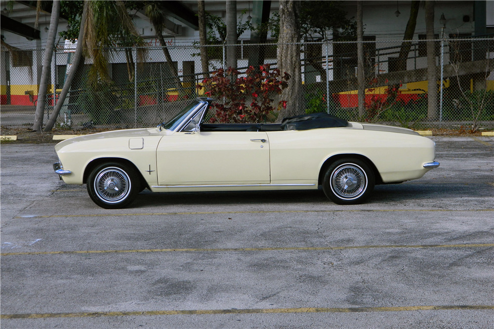 1966 CHEVROLET CORVAIR CONVERTIBLE - Side Profile - 206302