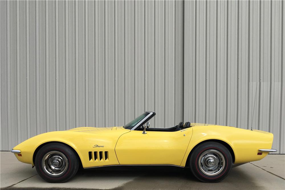 1969 CHEVROLET CORVETTE 350/300 CONVERTIBLE - Side Profile - 215554