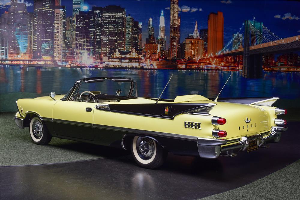 1959 DODGE CUSTOM ROYAL SUPER D-500 CONVERTIBLE - Rear 3/4 - 217635