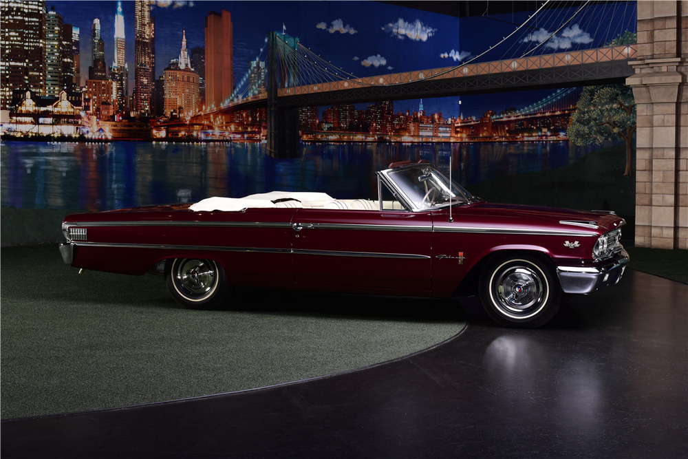 1963 FORD GALAXIE 500 XL R-CODE CONVERTIBLE - Side Profile - 217654
