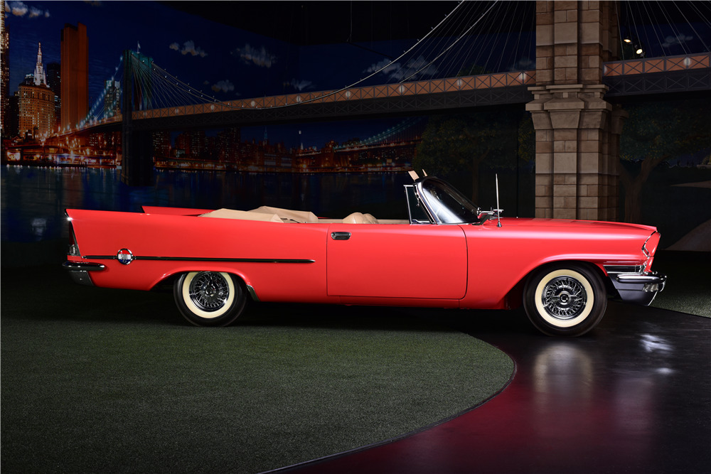 1957 CHRYSLER 300C CONVERTIBLE - Side Profile - 217888