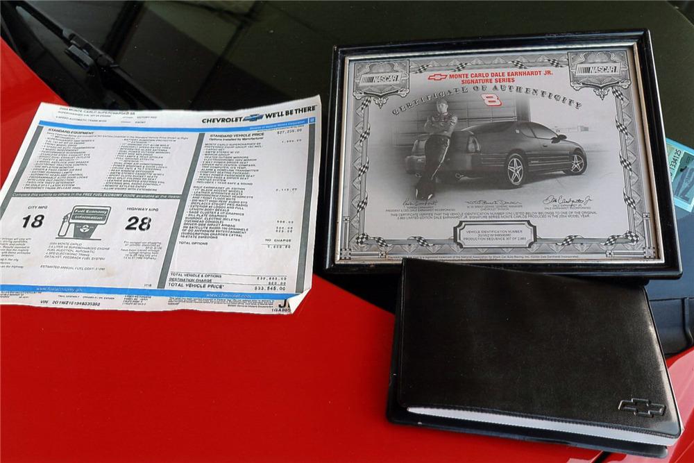 2004 CHEVROLET MONTE CARLO DALE EARNHARDT JR. EDITION - Misc 1 - 217916