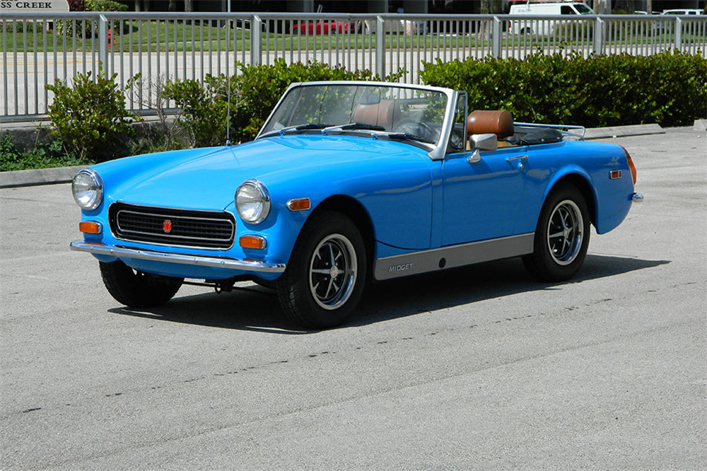1974 MG MIDGET CONVERTIBLE - Front 3/4 - 218044