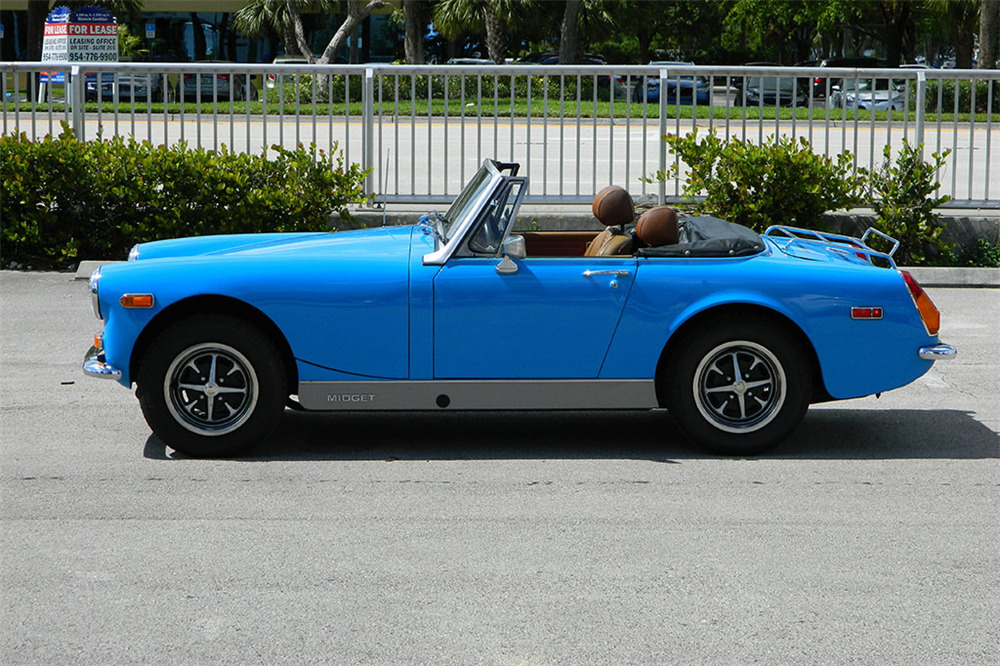 1974 MG MIDGET CONVERTIBLE - Side Profile - 218044