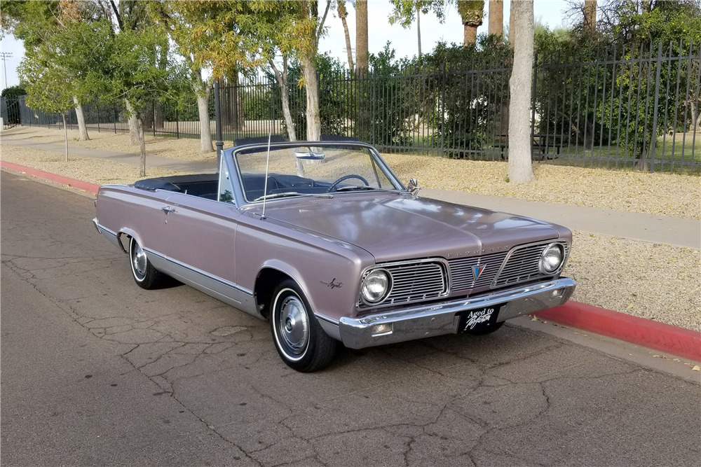 1966 PLYMOUTH VALIANT CONVERTIBLE - Front 3/4 - 218169