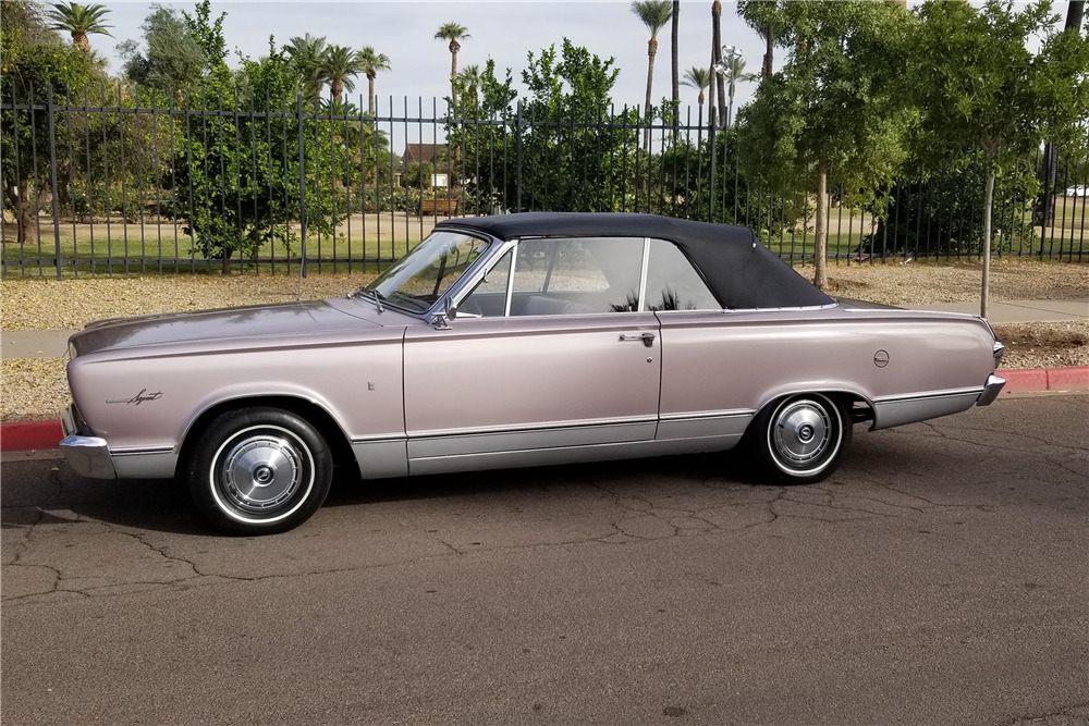 1966 PLYMOUTH VALIANT CONVERTIBLE - Side Profile - 218169