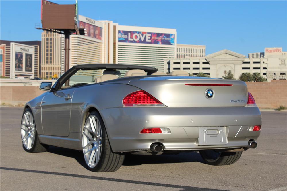 2005 BMW 645 CONVERTIBLE - Rear 3/4 - 218224