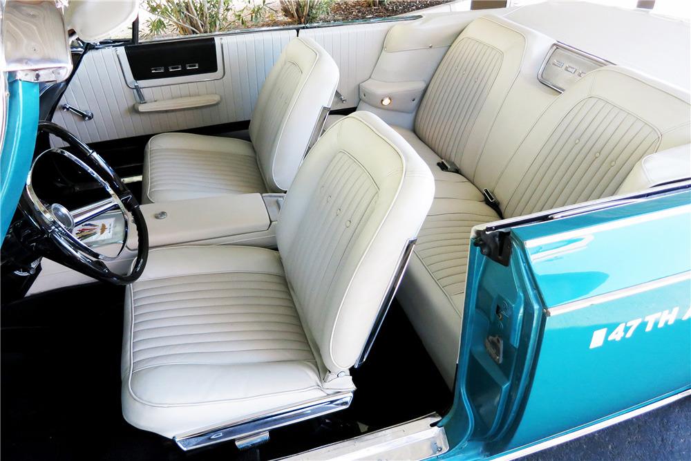 1963 CHRYSLER 300J PACE SETTER CONVERTIBLE - Interior - 219037
