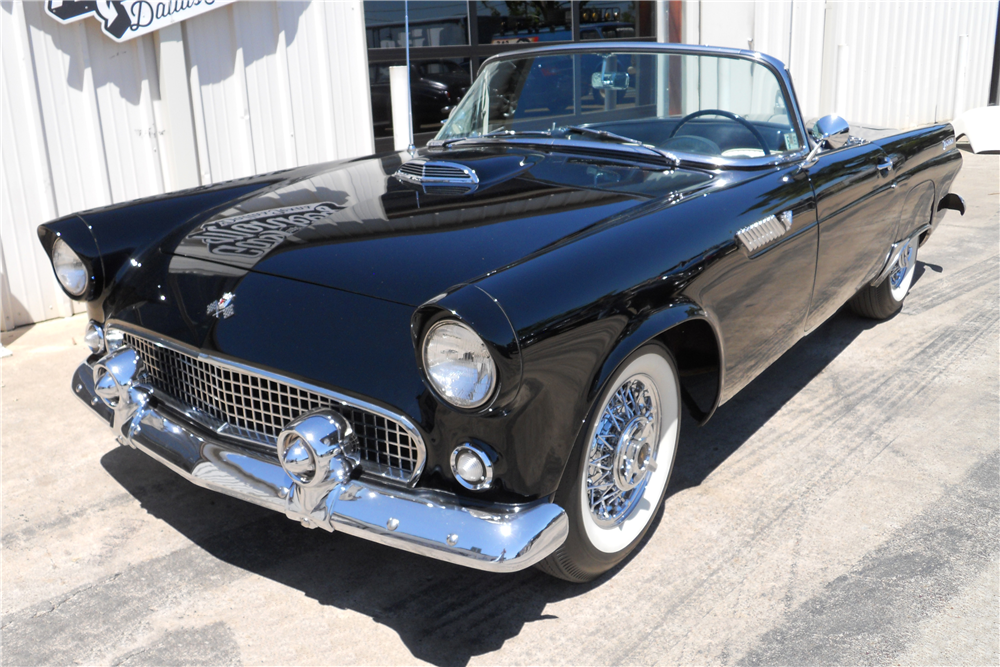 1955 FORD THUNDERBIRD CONVERTIBLE - Front 3/4 - 219683
