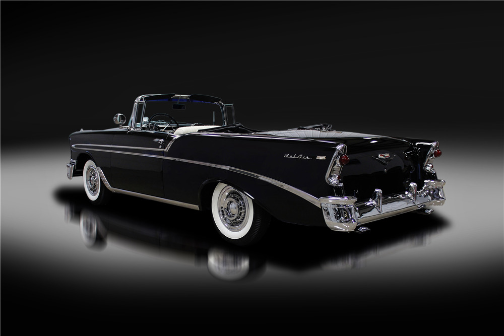 1956 CHEVROLET BEL AIR CONVERTIBLE - Rear 3/4 - 219714