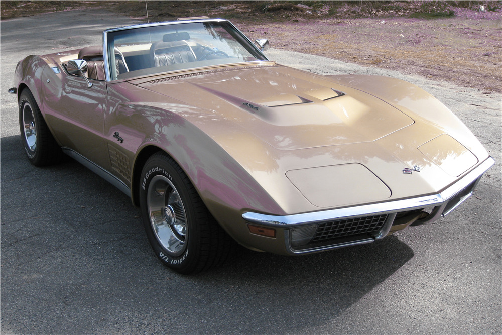1971 CHEVROLET CORVETTE CONVERTIBLE - Front 3/4 - 219732