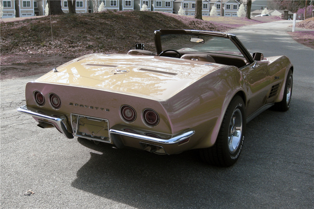 1971 CHEVROLET CORVETTE CONVERTIBLE - Rear 3/4 - 219732