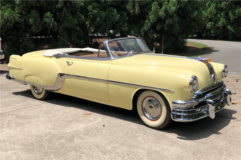1954 PONTIAC STAR CHIEF CONVERTIBLE - Front 3/4 - 219825