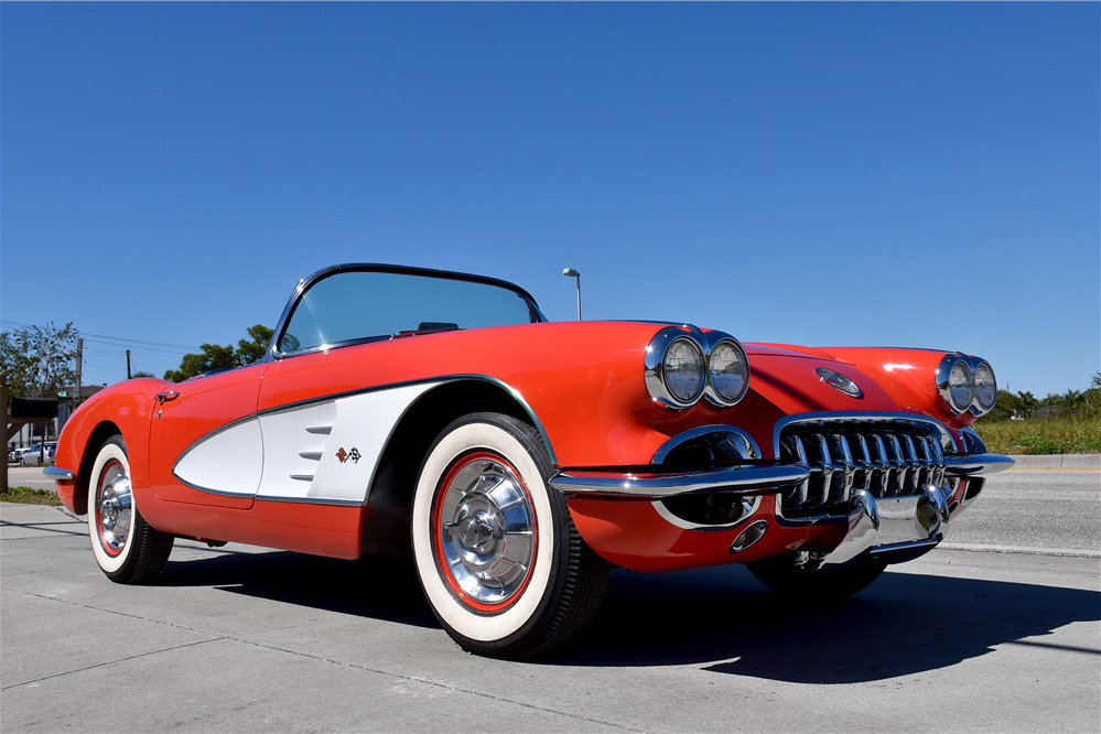 1958 CHEVROLET CORVETTE 283/250 FUELIE CONVERTIBLE - Front 3/4 - 219840