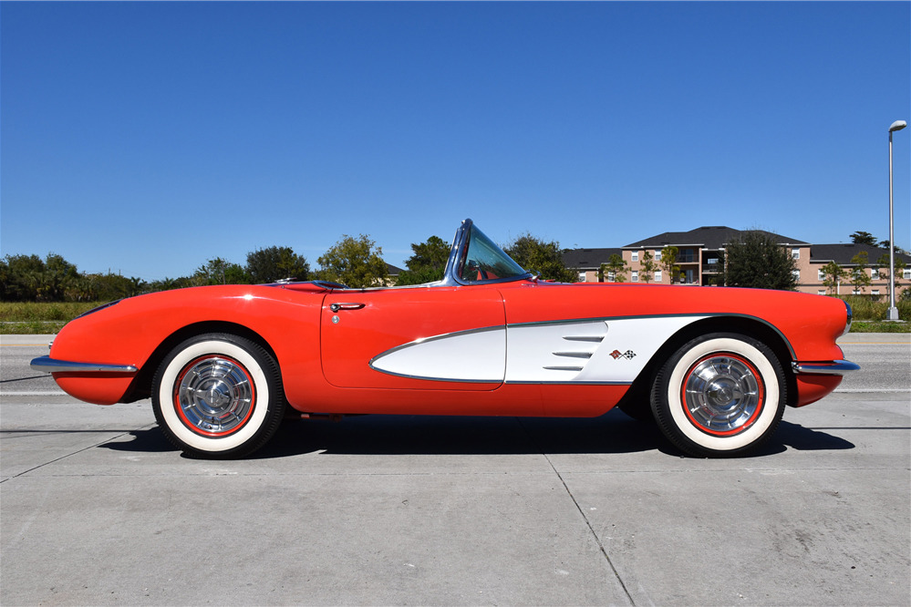 1958 CHEVROLET CORVETTE 283/250 FUELIE CONVERTIBLE - Side Profile - 219840