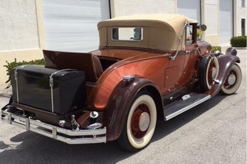 1929 PIERCE-ARROW MODEL 143 CONVERTIBLE - Rear 3/4 - 219940