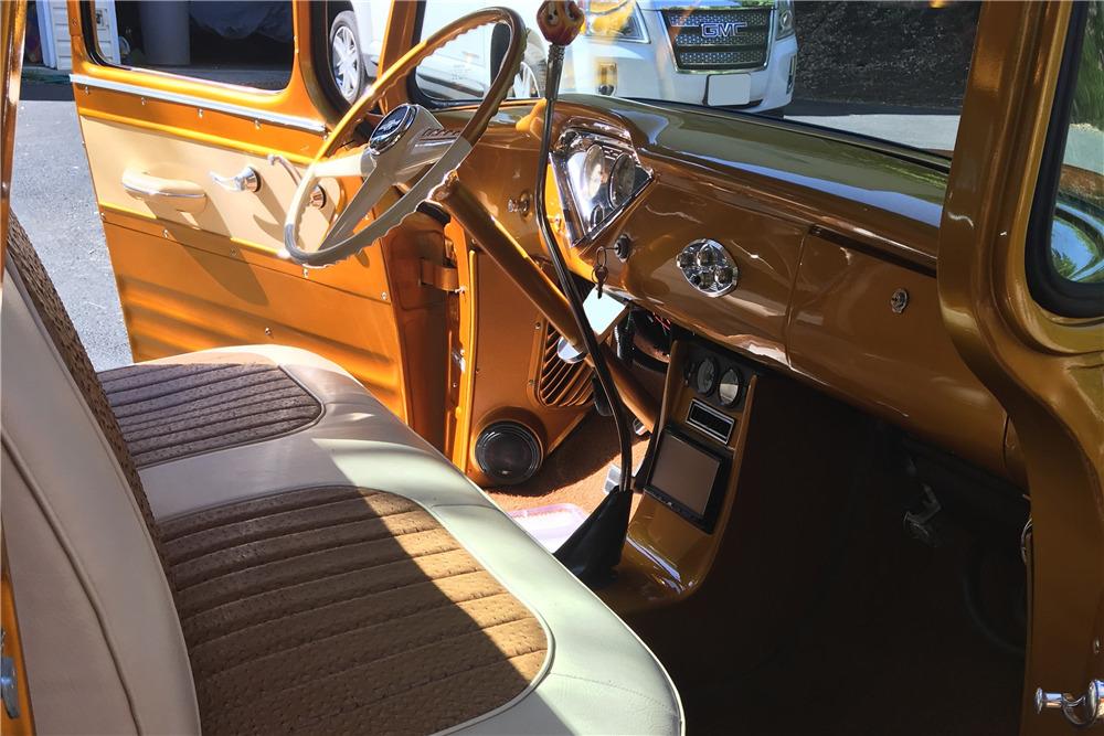 1955 CHEVROLET 3100 CUSTOM PICKUP - Interior - 220039