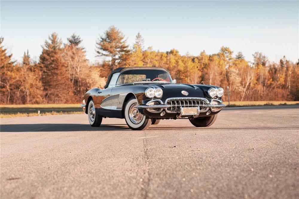 1958 CHEVROLET CORVETTE 283/230 - Front 3/4 - 220049