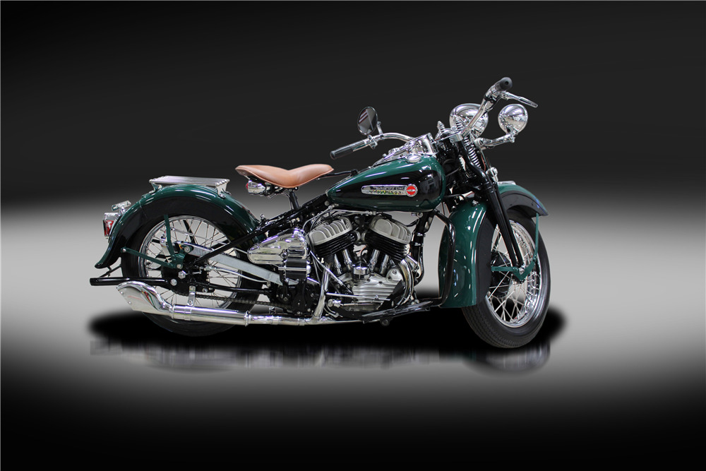 1942 HARLEY-DAVIDSON 42WLA MOTORCYCLE - Side Profile - 220165