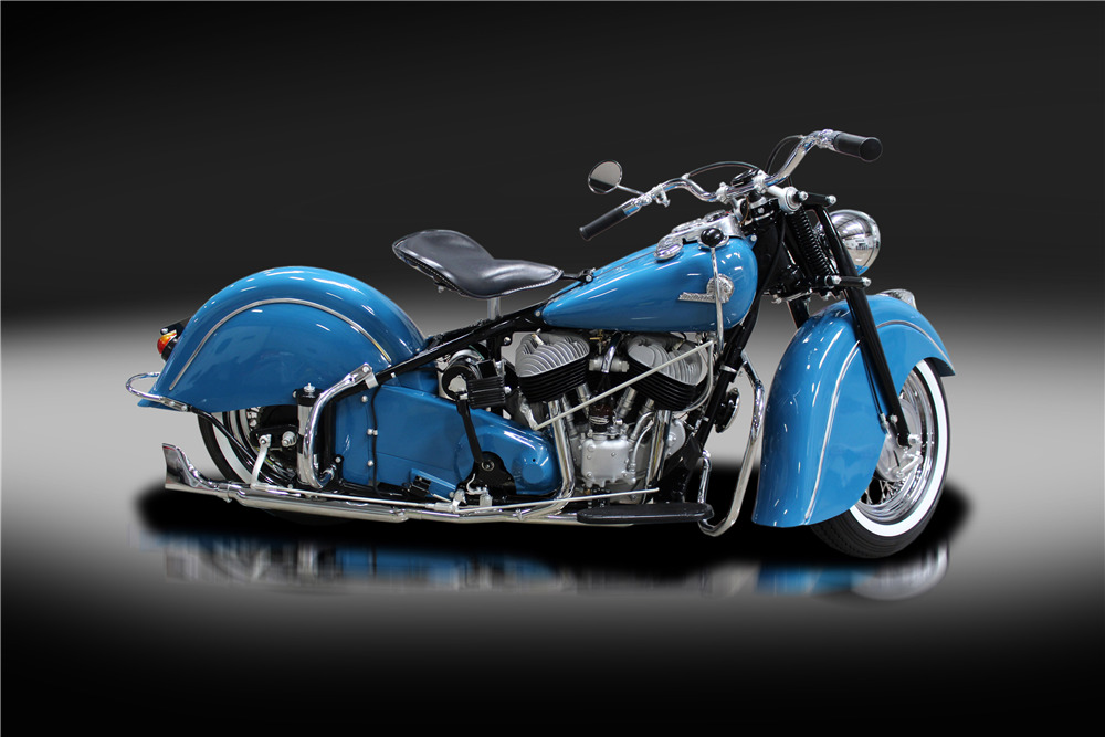 1946 INDIAN CHIEF MOTORCYCLE - Side Profile - 220182