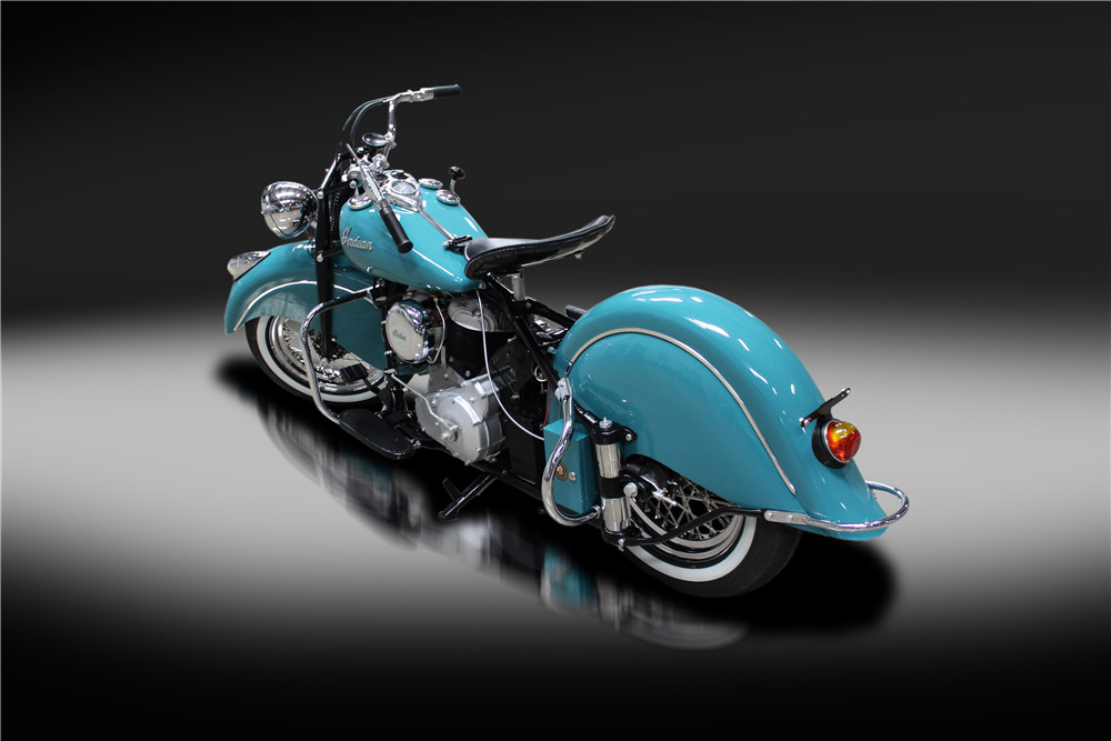 1947 INDIAN CHIEF MOTORCYCLE - Rear 3/4 - 220183