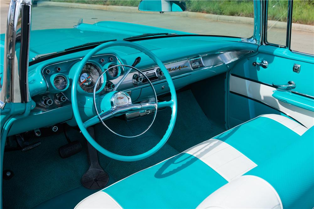 1957 CHEVROLET BEL AIR CONVERTIBLE - Interior - 220367