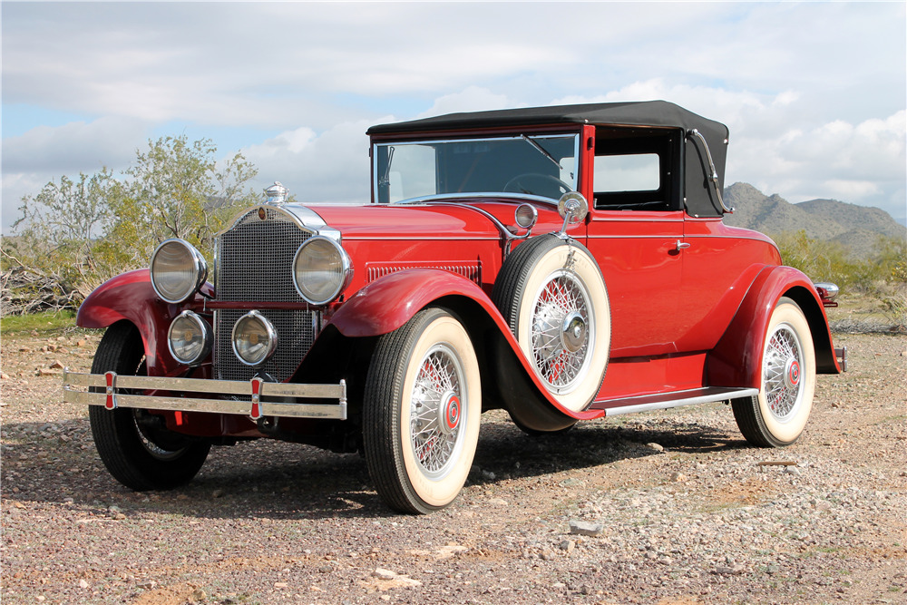 1929 PACKARD EIGHT CONVERTIBLE COUPE - Front 3/4 - 226655