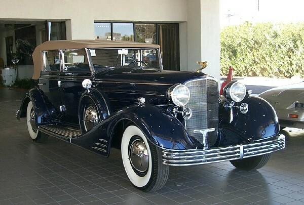 1933 CADILLAC FLEETWOOD V16 AW PHAETON - Front 3/4 - 23618
