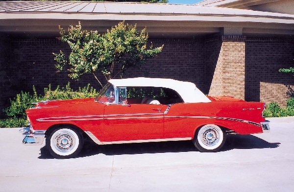 1956 CHEVROLET BEL AIR CONVERTIBLE - Front 3/4 - 24503