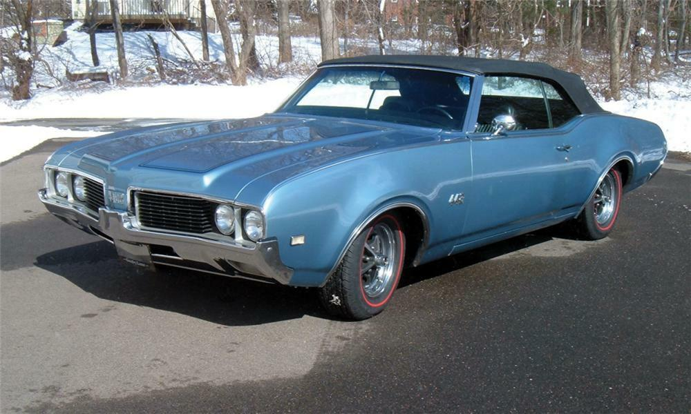 1969 OLDSMOBILE 442 CONVERTIBLE - Front 3/4 - 40067