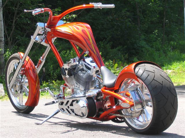 2007 RAGING IRON HKR CUSTOM MOTORCYCLE - Front 3/4 - 61226