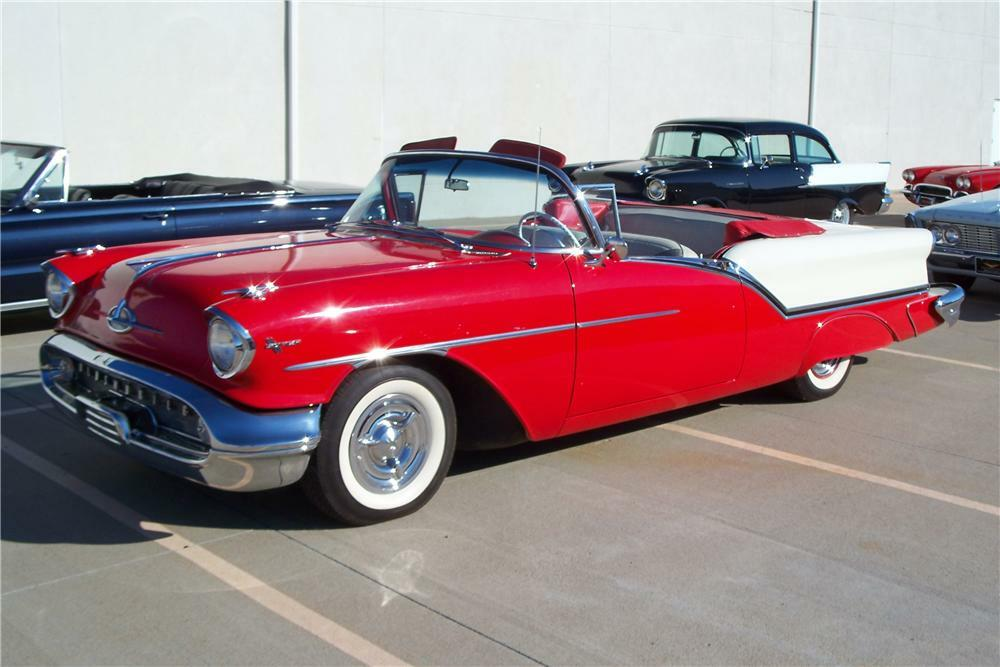1957 OLDSMOBILE SUPER 88 CONVERTIBLE - Front 3/4 - 96561