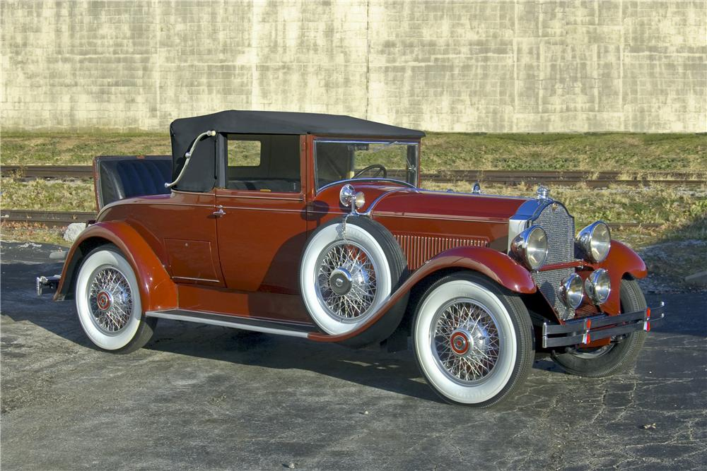 1929 PACKARD EIGHT CONVERTIBLE COUPE - Front 3/4 - 96783