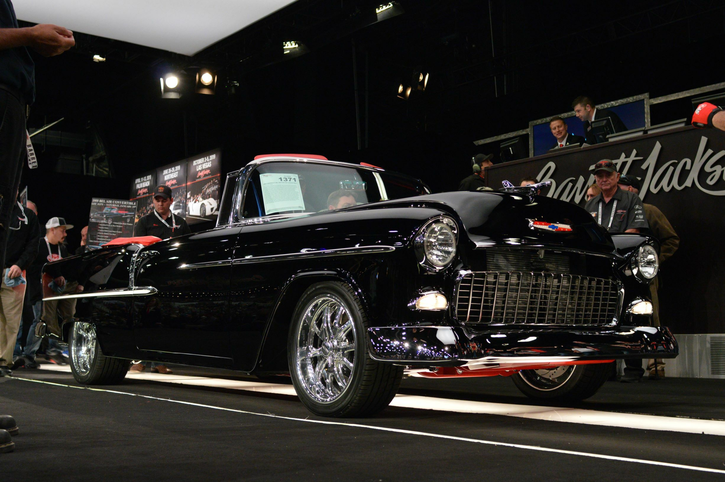 a 1955 Chevrolet Bel Air Custom Convertible (Lot 1371) sold at Scottsdale 2019 for $363,000