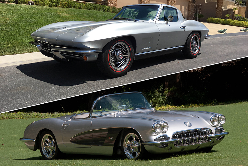 This Pair Of Corvette Resto Mods Offered At The 2017 Las Vegas Auction No