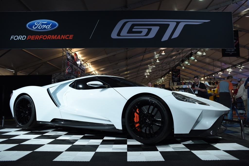 The New Ford Gt Is Attracting A Lot Of Attention At The Ford Display In The