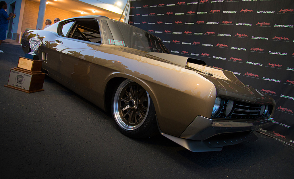 Winner of the very first Barrett-Jackson Cup in 2013 was a stunning 1969 Ford Torino.